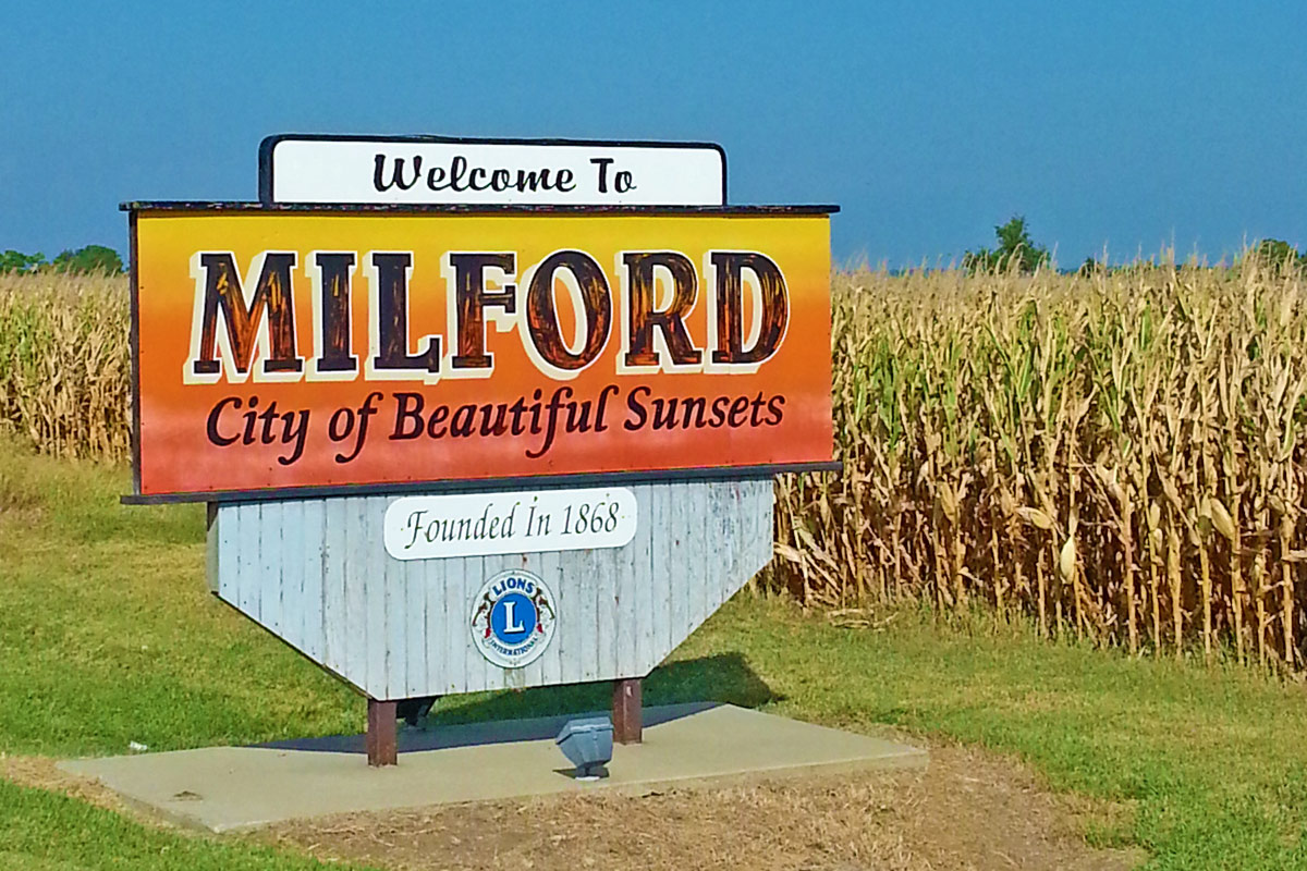Welcome to Milford, Kansas - City of Beautiful Sunsets