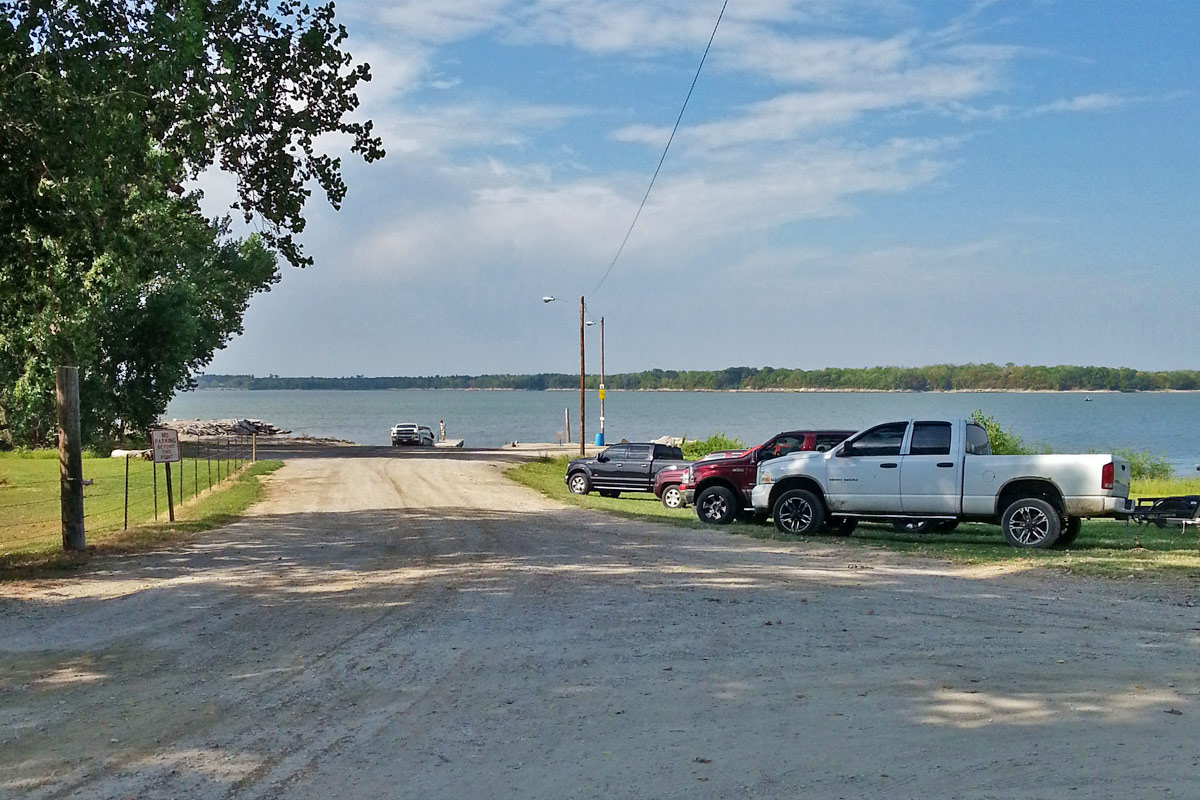 Public boat launch at Milford Lake, near Shandy's Lakeside RV Park